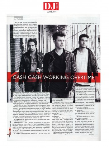 Cash Cash- DJ Times- April 2014