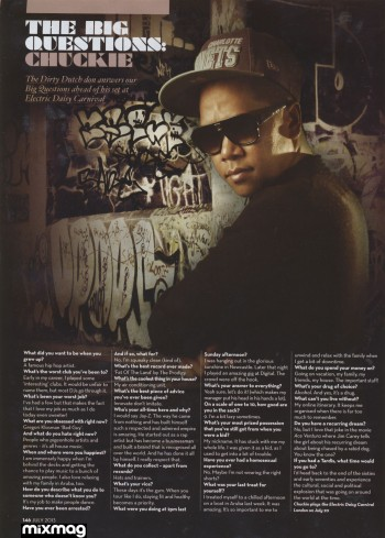 Chuckie - Mix Mag - July 2013