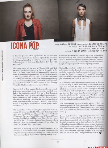 Icona Pop - Ladygunn - Issue 7