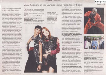 Icona Pop - The New York Times - June 2, 2013