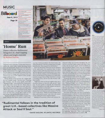 Rudimental - Billboard - May 31 2013