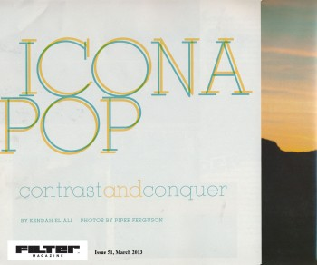 Icona Pop - Filter - March 2013 - PG1