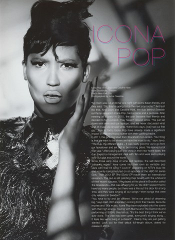 Icona Pop - Untitled Magazine - Issue 6 Page 2